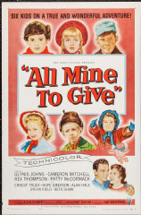 All Mine to Give 1957 DVD - Glynis Johns / Cameron Mitchell